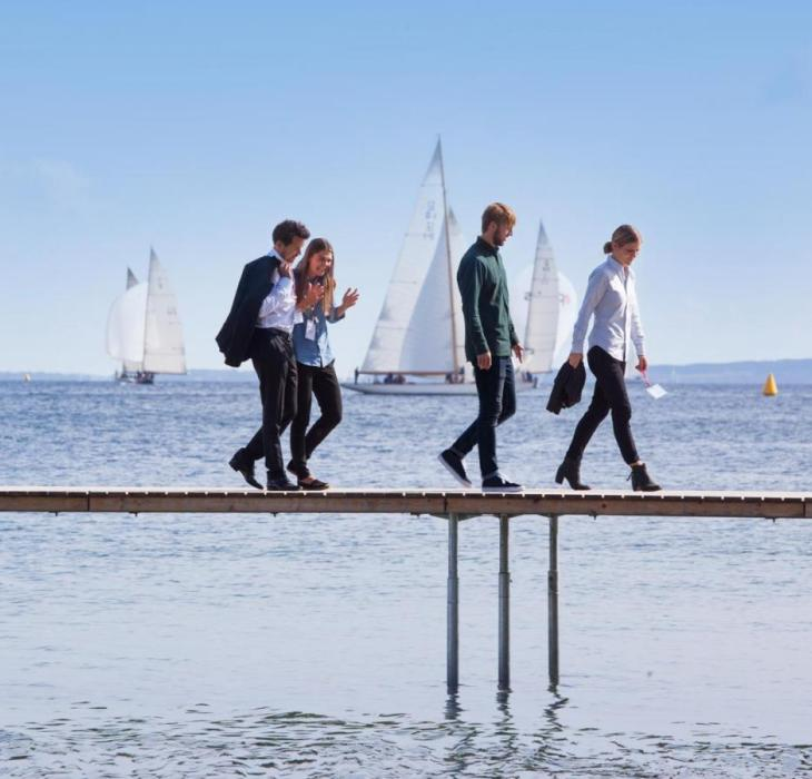 Walk and Talk on a bridge in Aarhus